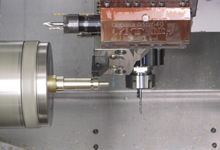 B446SY2-L machining AR-15 bolt in 1-OP