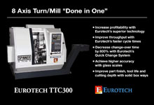 "Eurotech TTC300 Series - 8 Axis Turn-Mill ""Done in One"""